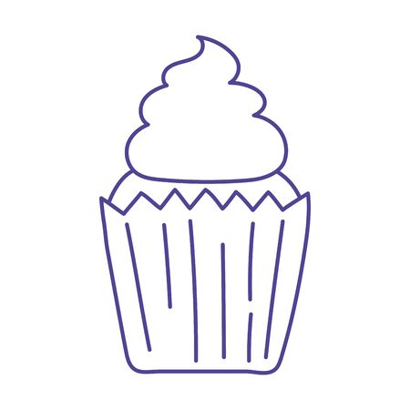 sweet cupcake dessert baked isolated icon design