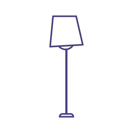 floor lamp decoration interior isolated icon design