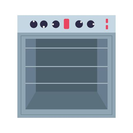 cooking stove electric appliance isolated icon design