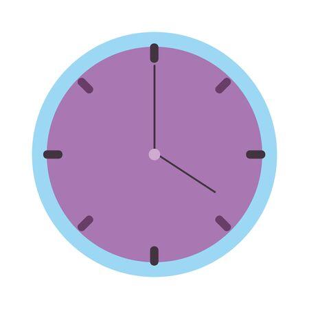 round clock time isolated icon design Illusztráció