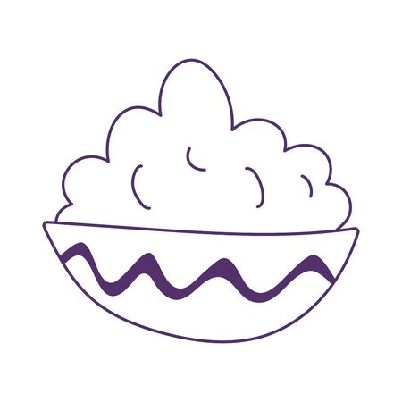 cream in bowl food cooking isolated icon design 矢量图像