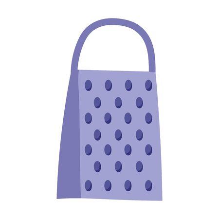 grater utensil kitchen isolated icon design Vetores