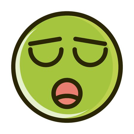 hushed funny smiley emoticon face expression line and fill icon Vektorgrafik
