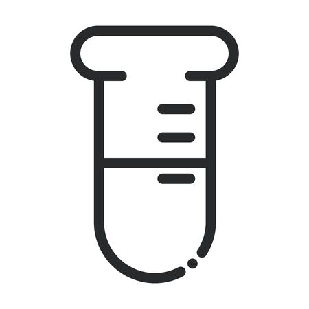 chemistry test tube laboratory science and research line style icon