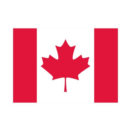 canada day, national freedom flag emblem flat style icon