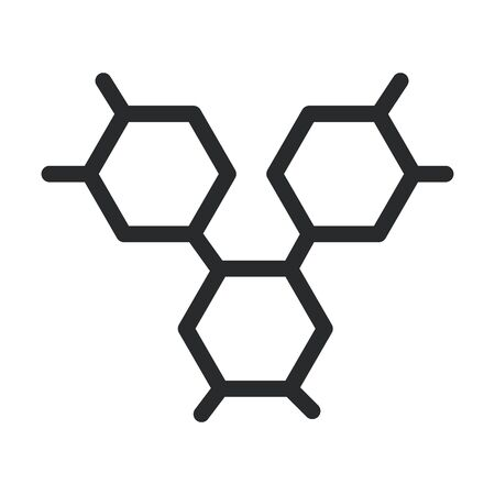 structure molecular laboratory science and research line style icon