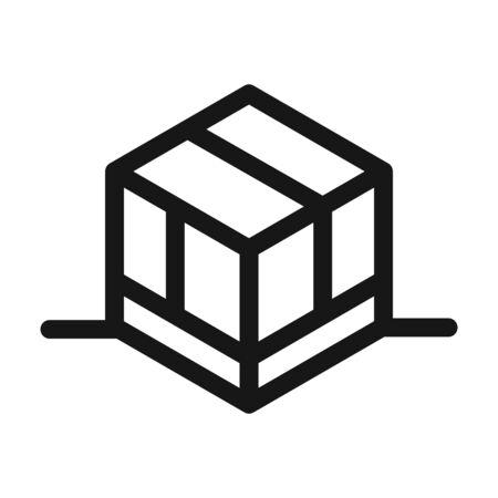 delivery cargo service logistic cardboard box vector illustration line style icon Ilustración de vector