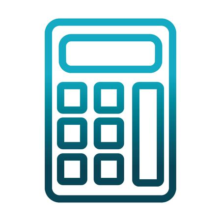 calculator financial math science and research vector illustration gradient style icon