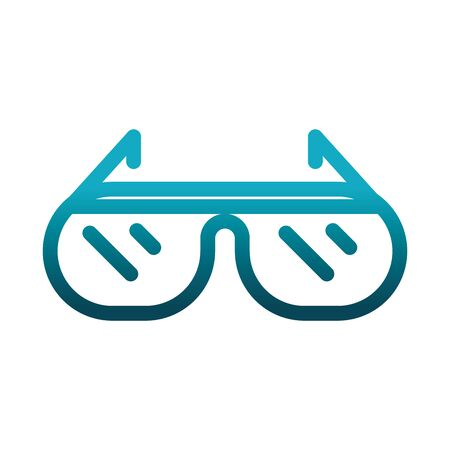 protection glasses laboratory science and research vector illustration gradient style icon