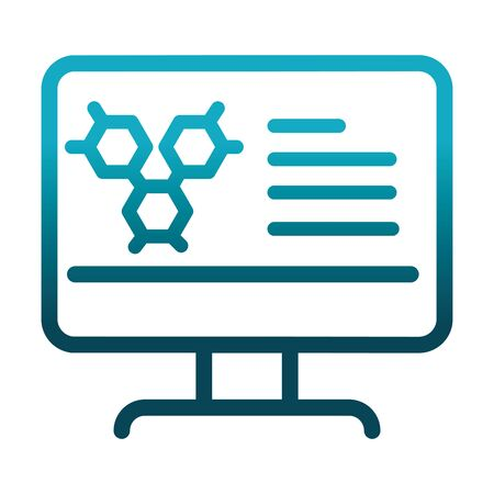 computer technology molecule laboratory science and research vector illustration gradient style icon