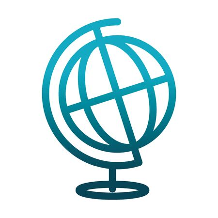 school globe map science and research gradient style icon Ilustracja