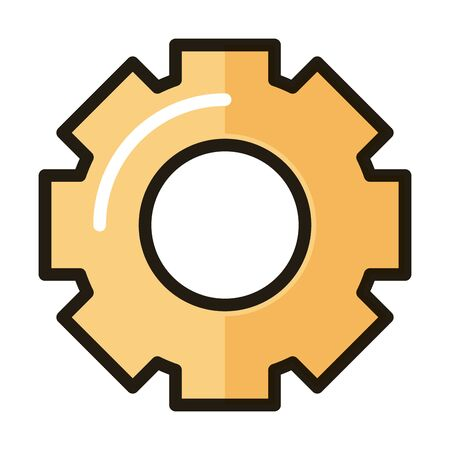 setting gear internet web technology interface vector illustration line and fill style icon