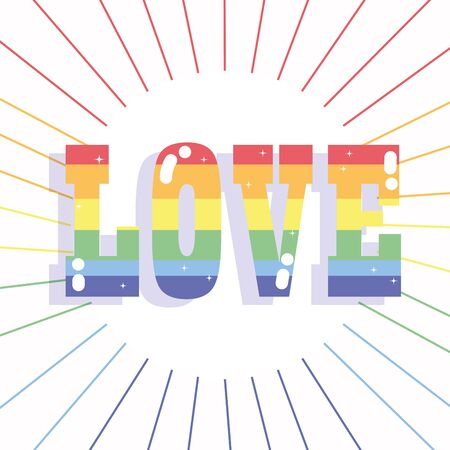 happy pride day, rainbow love lettering LGBT community