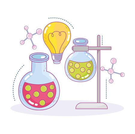science practice test tubes sample innovation research laboratory vector illustration