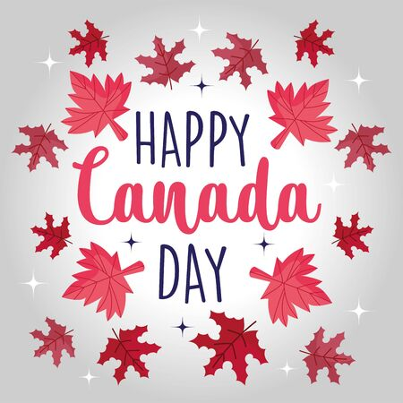 Canadian maple leaves design, Happy canada day holiday and national theme Vector illustration