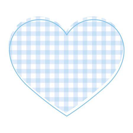 Blue heart icon design of love passion and romantic theme Vector illustration