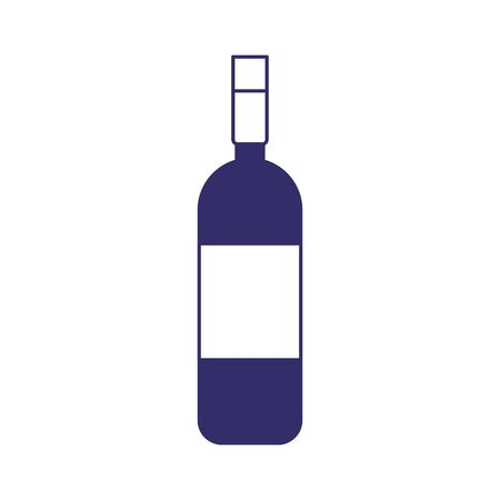 wine bottle drink liquor design isolated icon