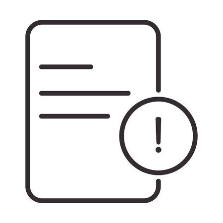alert icon, data attention danger exclamation mark precaution, line style design