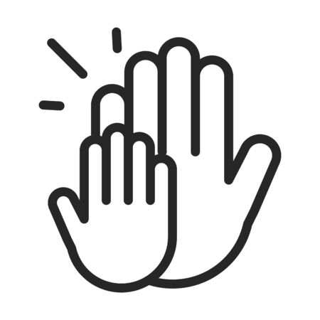 donation charity volunteer help social hands line style icon vector illustration