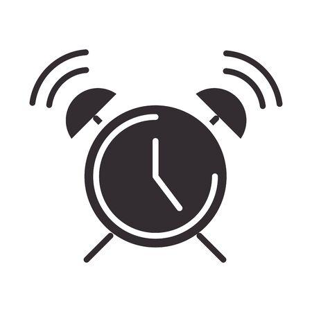 alert icon, alarm clock, attention danger exclamation mark precaution information silhouette style design vector illustration 일러스트