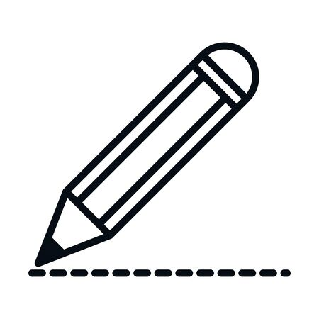 math education school science writing pencil line and style icon vector illustration