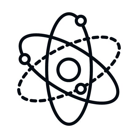 math education school science molecule line and style icon