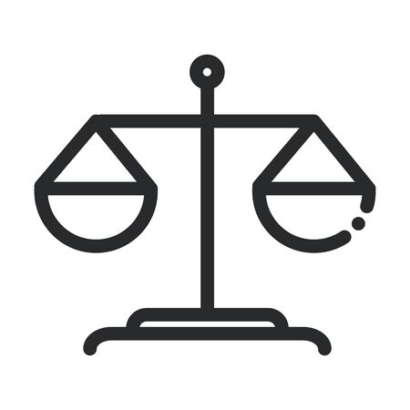 balance scale laboratory science and research line style icon