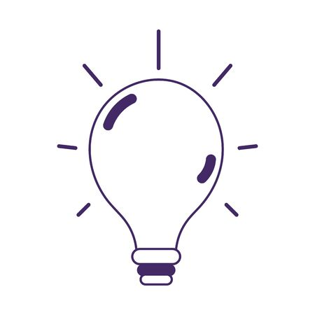 light bulb creativity isolated icon on white background vector illustration Illusztráció