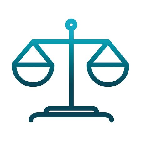 balance scale laboratory science and research gradient style icon