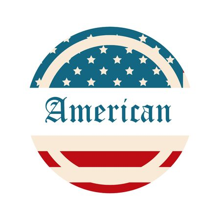 happy independence day, american flag lettering national design vector illustration flat style icon