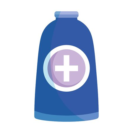 medical bottle alcohol isolated icon on white background vector illustration Illusztráció