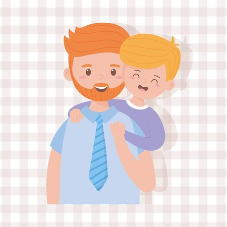 Father and son design, Family relationship and generation theme Vector illustration