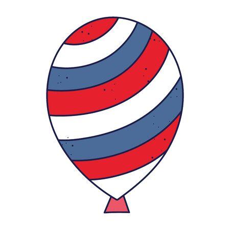 striped balloon design, Party celebration entertainment holiday fun birthday decoration and joy theme Vector illustration Ilustracja