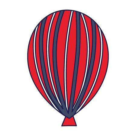 Isolated striped balloon vector design