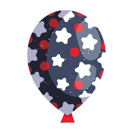 starry balloon design, Party celebration entertainment holiday fun birthday decoration and joy theme Vector illustration