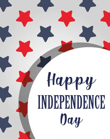 Usa independence day red and blue stars background vector design