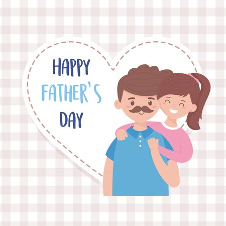 Father with daughter design, Fathers day celebration and love theme Vector illustration