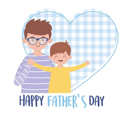 Father with son on fathers day vector design Ilustracja