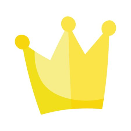 crown monarchy royal hierarchy king queen isolated design icon vector illustration