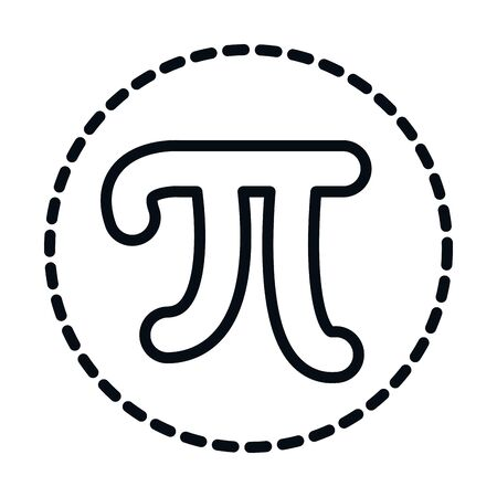 math education school science pi symbol line and style icon vector illustration