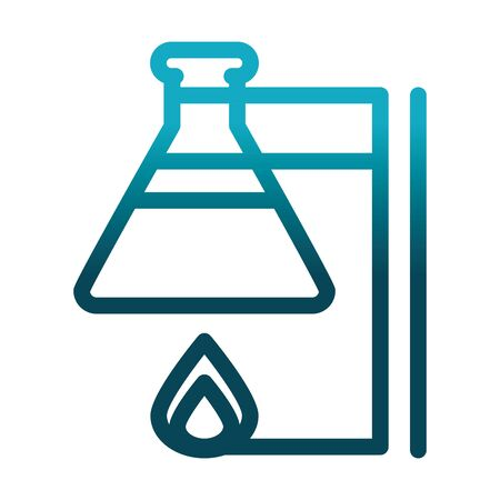 test tube on burner chemical laboratory science and research vector illustration gradient style icon