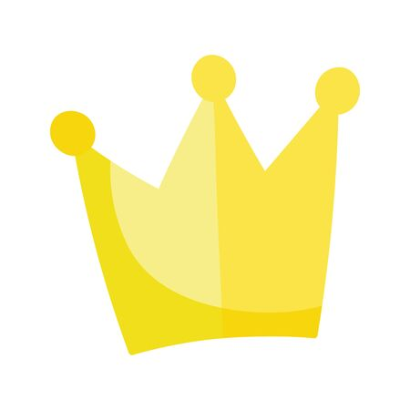 Crown design, Royal king queen luxury jewelry kingdom insignia emperor authority and theme Vector illustration