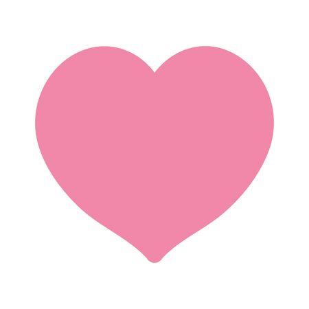 love heart romatic feeling isolated icon design white background vector illustration