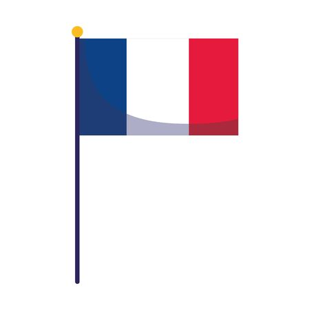 france flag design, Happy bastille day and french theme Vector illustration