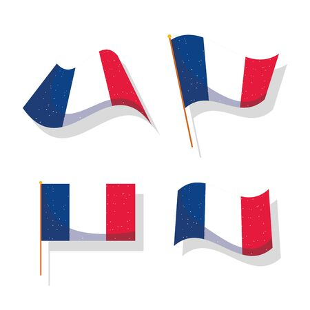 france flags design, Happy bastille day and french theme Vector illustration