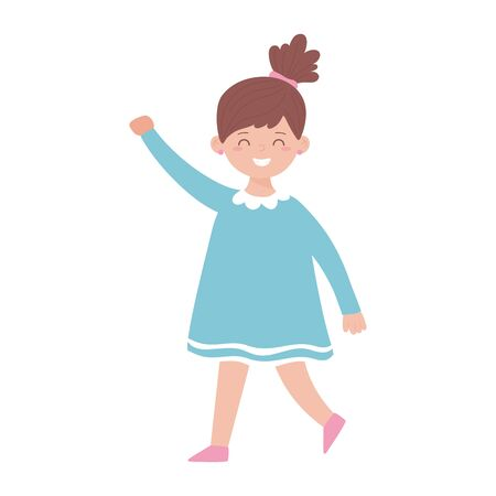 Girl cartoon design, Kid childhood little people lifestyle casual person cheerful and cute theme Vector illustration