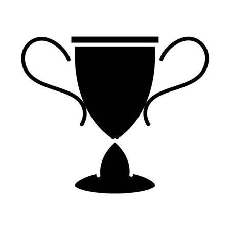 soccer game, award trophy league recreational sports tournament silhouette style icon vector illustration