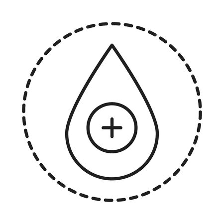 cleaning disinfection, drop medical care, coronavirus prevention sanitizer products line style icon vector illustration 일러스트
