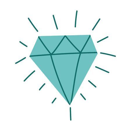 diamond luxury gem jewelry isolated design icon vector illustration