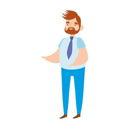 man character male avatar cartoon isolated icon design vector illustration Archivio Fotografico - 150281268